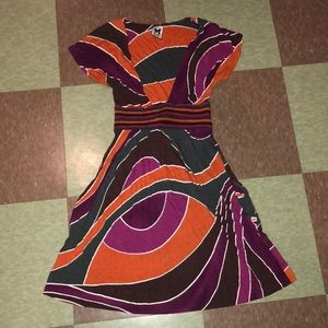 Missoni deep v fit flare abstract dress 2 colorful
